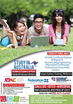 Looking for an overseas education consultant in chandigarh GLEE Consultancy Services is the right option for you tou apply your study visa.visit us to for free counseling and IELTS coaching in chandigarh