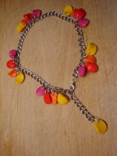 summer ankle Beaded Necklace, Charmed, Ankle, Heart, Bracelets, Summer, Jewelry, Fimo, Beaded Collar