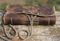 Auténticamente medieval cuero personalizada diario 8.8 X 6,6 en blanco su…