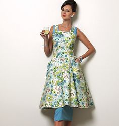 Making this sweet Vintage Vogue apron as soon as the pattern comes in the mail.