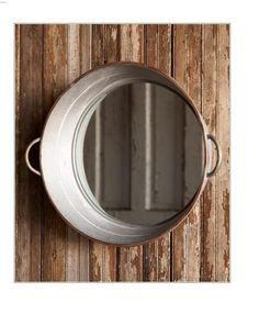 DIY Tin Bucket Mirror