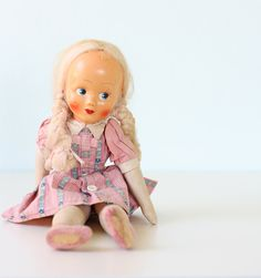 Vintage Doll. , via Etsy.  possibly from Poland