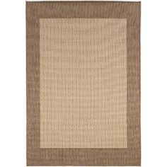 Found it at Joss & Main - Recife Checkered Field Natural Cocoa Indoor/Outdoor Area Rug
