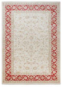 Klassisch Teppich Orientalisch Fußbodenteppich Windsor Läufer rot/beige A100246