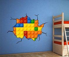 lego wall decal cute for boys rm