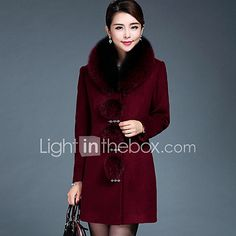 Casual hétköznapi   Nagy méretek Egyszerű Téli-Női Kabát a9f80a04c8