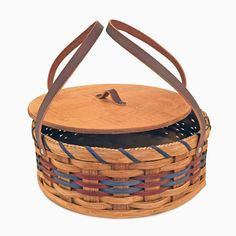"This Amish Baskets handmade Pie Carrier will protect your pies, desserts, casseroles, and other dishes during travel. This pie keeper basket has a 12 1/2"" inside diameter so it can easily accommodate"