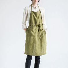 linen flax Plain apron  #linen #flax #Plain #apron