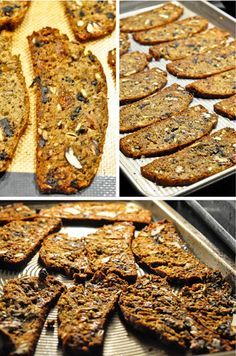 fig and kalamata olive crackers (similar to lesley stowe's raincoast crisps) Fig Recipes, Real Food Recipes, Cooking Recipes, Yummy Food, Gourmet Recipes, Bread Recipes, Do It Yourself Food, Homemade Crackers, Biscotti Recipe