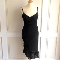 Guy Laroche Collection Black Size 40 Fitted Silhouette Sleeveless Dress
