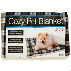 Brand New COZY PLAID LIGHTWEIGHT PET BLANKET FLEECE PADDING POLYESTER THROW DOG CAT 27x19 ** Read more reviews of the product by visiting the link on the image.