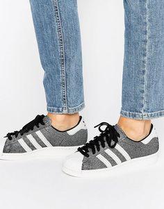 Zapatillas de deporte con estampado metalizado Superstar de Adidas Originals en ASOS