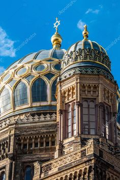 View New Synagogue Berlin - Stock Photo , Dream Life, My Dream, Synagogue Architecture, Vienna House, Jewish Synagogue, Berlin Photos, Jewish History, Beauty Packaging, Mosque
