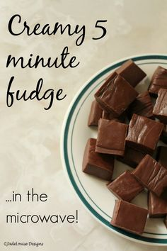 This rich creamy fudge only takes five minutes to make in the microwave and sets in as little as two hours. So delicious and crazy easy.