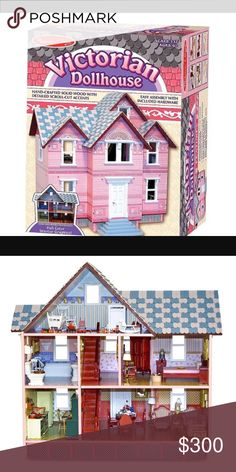 Melissa and Doug Wooden Heirloom Dollhouse This is a very nice collectible type of Dollhouse. I bought it 8 years ago for my daughter of the future lol but it's not her style or type. In the meantime, my niece played with it a lot, so there is some minor pieces missing to the furbishment...but nothing major. Paid $500 for it. Melissa & Doug Other