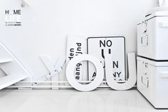 Wow, love this....  © Paulina Arcklin  #interior #home #letters #white