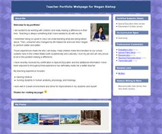 Really Cool site to create Teacher Portfolios for free.