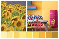 COLORS: el efecto del AMARILLO en nuestro espacio. Pertenece al elemento Tierra. Este color estimula la inteligencia, la memoria, la generosidad y la seguridad en uno mismo. La gama de los amarillos nos conecta con nuestra serena alegría interior y con la expansión de la mente superior o consciencia. Si te gusta este color, lo recomendamos especialmente para espacios sociales como la cocina, los comedores o salones. En exceso, el color amarillo puede producir cierta irritabilidad…