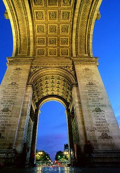 Arc de Triomphe - names of cities where Napléon's victorious battles occurred