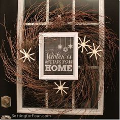 Great Ideas. 20 Winter DIY Projects! For my mantle AFTER Christmas.