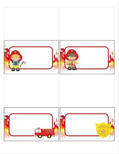 DIY fireman food tents fire fighter food by MyHeartnSoulBoutique