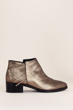 Bottines cuir doré franges Shimmy - KG by Kurt Geiger