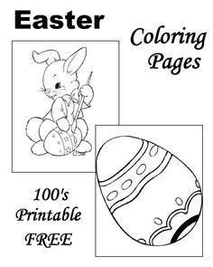 Easter Coloring Pages - 100's of free, printable sheets and pages to color!