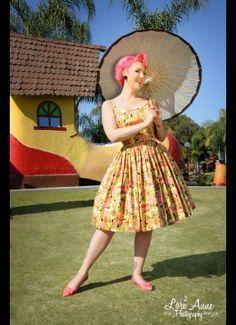 Jenny Dress in Tiki Print Sateen