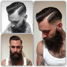 Dapper cut AND beard. Well played, sir.