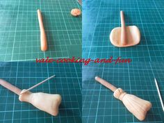 Cake decorating: Modelling a broom