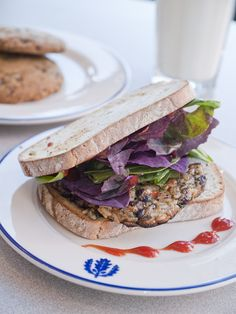 Black Bean and Brown Rice Burger