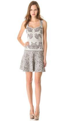 Zac Posen Jacquard Full Skirt Dress
