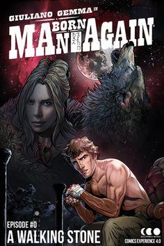 A WALKING STONE - Season#1  Episode#0 - Cover  ManBornAgain the Graphic Novel Online. NOW www.manbornagain.com