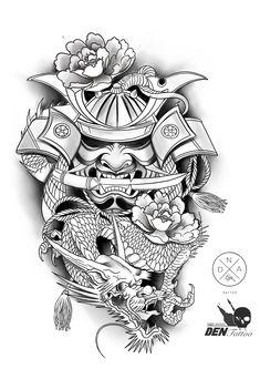 Japanese tattoo art style design ideas on 2020 36 Warrior Tattoo Sleeve, Samurai Tattoo Sleeve, Samurai Warrior Tattoo, Dragon Sleeve Tattoos, Warrior Tattoos, Samurai Art, Demon Tattoo, Irezumi Sleeve, Hannya Mask Tattoo