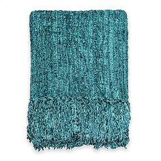 Bedford Chenille Throw in Teal