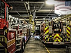 Engine and Truck 716 in quarters.  Photo courtesy of Firefighter Dan Rothermel