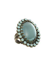 Look what I found on #zulily! Aqua & Green Opal Czech Crystal Statement Ring #zulilyfinds