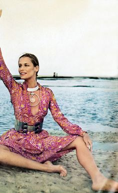 Vogue 1970 Lauren Hutton by Henry Clarke