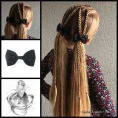 Dutch braids into pigtails ***Just a pic***