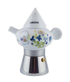 """Espresina Pinocchio """"Il giardino delle Meraviglie"""": caffettiera in porcellana da 2 caffè  www.ancap.it"""