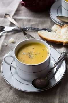 Parsnip and Potato Soup. #food #soup #recipe