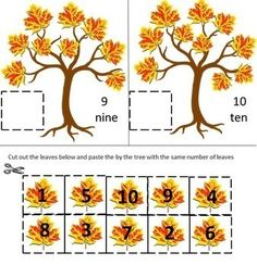 Fall is a fun time of the year. The Fall air is crisp and fall means falling leaves. Practicing their counting skills with this fall Counting Fun With Autumn Leaves Cut and Paste worksheet packet will make learning fun Kindergarten Special Education, Kindergarten Math, Math Literacy, Fun Math, Autumn Activities, Math Activities, Back To School Special, Fun Learning, Toddler Learning
