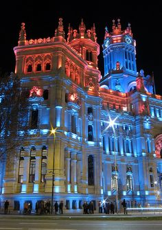 Palacio de Correos, Madrid, Spain -  The old central post office in Madrid, Spain, actually houses the local government.