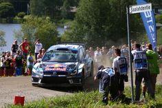 SS16 Saalahti 1 (4.23 km) 1. OGIER / Østberg 2'02.8, 3. Neuville +0.2s, 4. Latvala +0.3s #RallyFinland #WRC