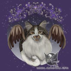 Ash Evans Angel cat print by AshEvans on Etsy, $15.00