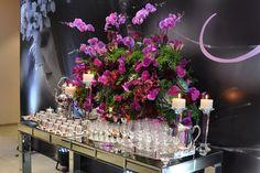 Decoração mesa café festa 15 anos (Decoração: Monica Lipiani | Foto: Amanda Dias)