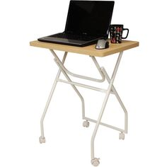 Hearts Attic Folding TV Tray Table Laptop Computer Stand ($115) ❤ liked on Polyvore featuring home, furniture, tables, folding laptop stand, laptop computer stand, folding computer table, folding furniture and folding tray table
