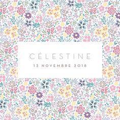 Faire-part de naissance Petit mille fleurs (triptyque) by Tomoë pour…