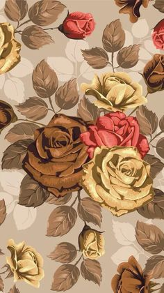 Wallpaper Vintage Flowers Wallpaper, Flower Phone Wallpaper, Pastel Wallpaper, Love Wallpaper, Cellphone Wallpaper, Wallpaper Ideas, Best Iphone Wallpapers, Cute Wallpapers, Flower Backgrounds