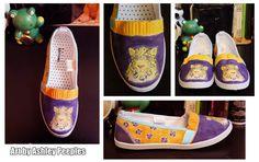 My 4th pair of custom shoes for my English teachers wife.   Follow me on Tumblr- http://lucifers-temptation.tumblr.com/
